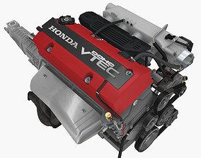 3D asset Honda F20C engine