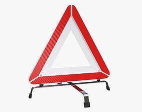 3D model Emergency car sign white
