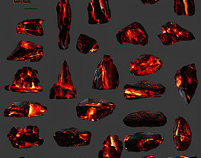 3D asset lava rocks set