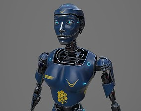 Robot LEDI001 3D model game-ready