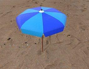 Beach Umbrella Pack 3D asset