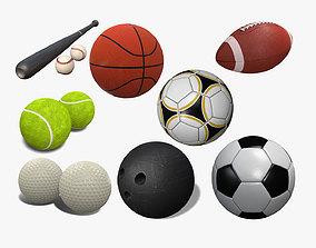 Sports Balls Pack 3D