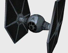 Tie Fighter fighter 3D model VR / AR ready
