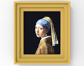 Girl with a Pearl Earring painting by Vermeer for 3D
