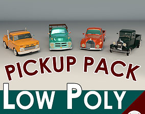Low Poly Pickup Pack 01 3D model