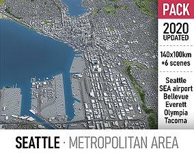 3D model Seattle Metropolitan area