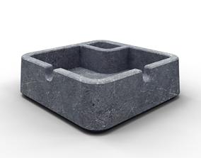 3D model of a design cement ashtray