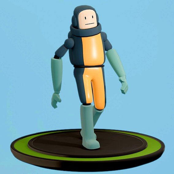 Astronaut character for game