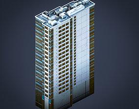 BLU building 3D model game-ready
