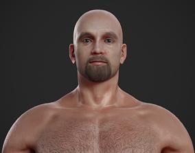 Rigged Textured Male Basemesh 3D model