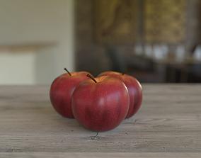 Apple Fruit 3D Model grocery