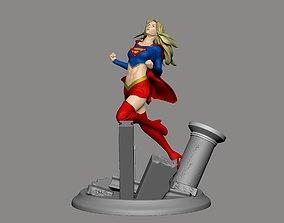 female Super Girl model 3d print
