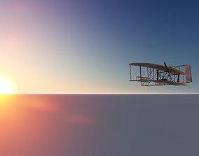 The Wright Flyer 3D model flight