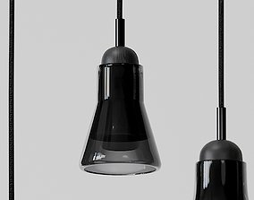 Shadow Large Pendants - Black and White 3D model