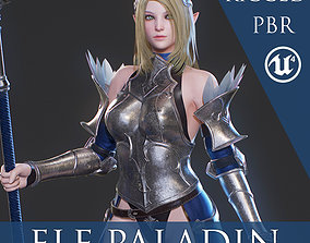 3D model rigged Elf Paladin - Game Ready
