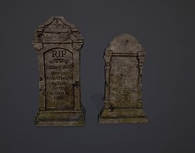 Gravestones Collection 7 models 3D asset