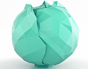 Cabbage Low Poly 3D asset