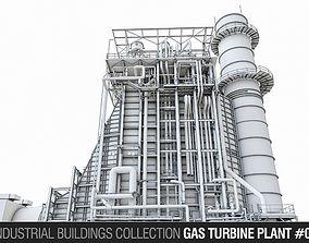 3D model Gas Turbine Plant - Vol 01
