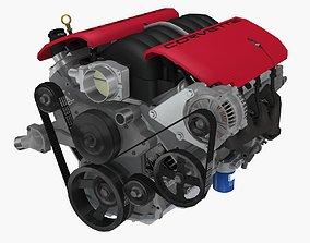 3D model Chevrolet Corvette Z06 2001 LS6 V8