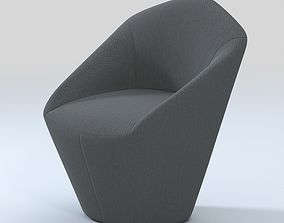 Viccarbe Penta Armchair with Fixed Base 3D model