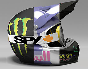 Motocross Helmet 3D model