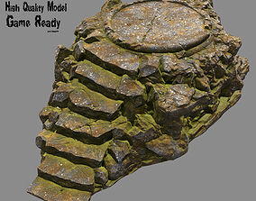 Temple 3D model game-ready