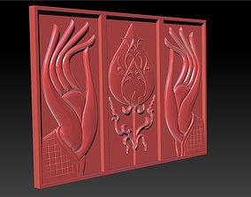 3D printable model Hand and Lotus