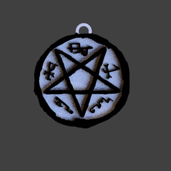 satanic pendant