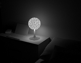 3D print model Tree Voronoi Art Lampshade