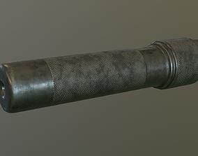 Ak rifle silencer 3D asset