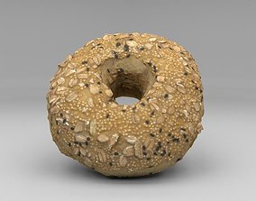 low-poly Bagel - 3D Scanned Low Poly asset