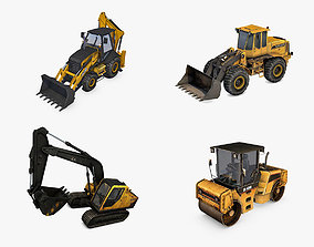 Heavy Construction Machinery 4 in 1 3D