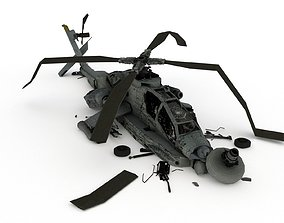 AH 64 helicopter 3D asset
