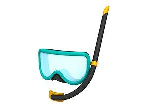 3D model Diving Mask