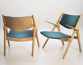 CH28 Sawhorse Easy Chair 3D