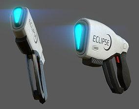 3D asset low-poly Futuristic gun - pistol