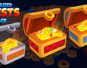 Stylized Casual Chests 3D asset