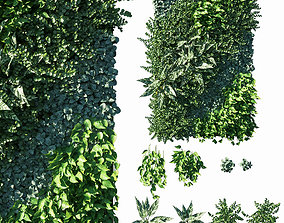 Vertical garden Green wall 05 3D model