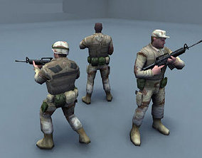 3D model US Army Soldiers