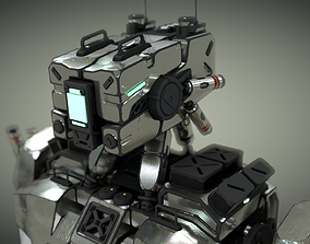 robot rigged design 3D