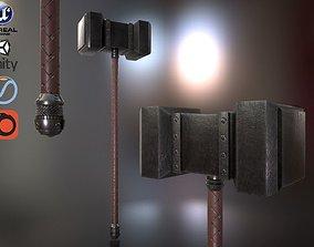 3D model War hammer