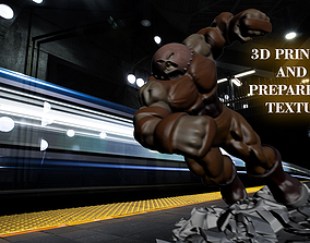 3D model low-poly Juggernaut