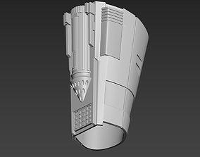 Star Wars The Mandalorian Beskar forearm 3D print model 1