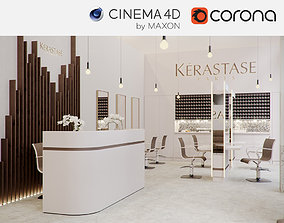 Corona - C4D Scene files - Salon Scene 3D
