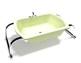 Modern Green Steel Sink 3D model