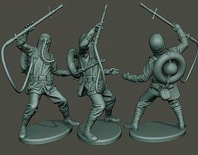German soldier ww1 killed G5 3D print model