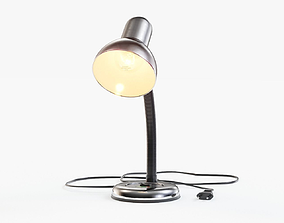 3D model Desk Lamp With Flexible Arm