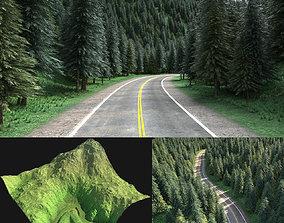 Green mountain exterior 3D model