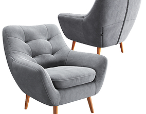 3D model Chair Vitio Grey