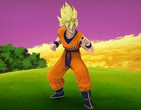 Goku SSJ 3D asset